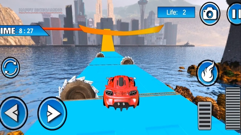 Nitro GT Cars Airborne Transform Race 3D Blue Green Red Cars Levels 3 4 5 Completed 2