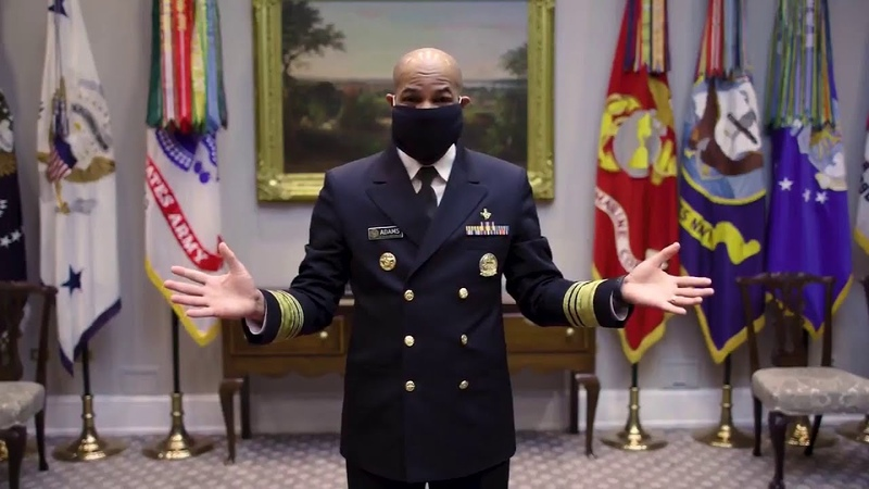 Surgeon General shows how to make face masks