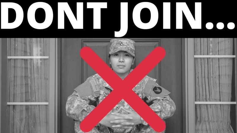 DONT JOIN THE ARMY CONS OF THE US ARMY