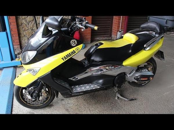 Yamaha T MAX 500 2001 года Замена фильтров и масла в двигателе
