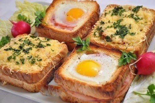 Ты просто влюбишься во вкус этого бутерброда! Ингредиенты:- Белый хлеб 16 кусочков - Ветчина 8 пластин - Помидор 1-2 шт.- Грибы 200 г- Яйца 4 шт.- Сыр 100-150 г- Сливочное масло 1 ст. л.- Соль,