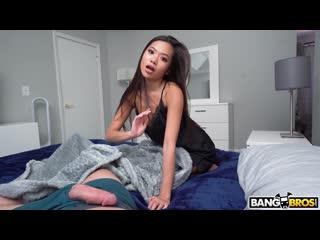 Vina Sky - Stepsister Rubs One Out 2020 / Blowjob Brunette Swallow Amateur Asian Shaved Pov /