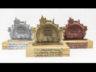 Кубки для абсолютных победителей и призеров Чемпионата Европы IPL/ФЖД 2020