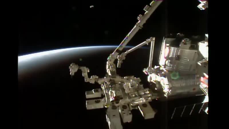 камера ISS из прямой трансляция с МКС 21 03 2020