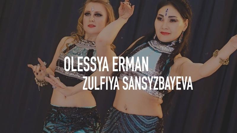 Tribal Fusion Belly Dance Duet Olessya Erman Zulfiya Sansyzbayeva