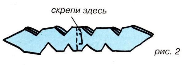 Первые поделки из бумаги (вместе с мамой) - Снежинка . Тебе понадобятся: прямоугольный лист белой бумаги, простой карандаш, ножницы, степлер, клей, нитки. Лист бумаги сложи гармошкой, начиная с