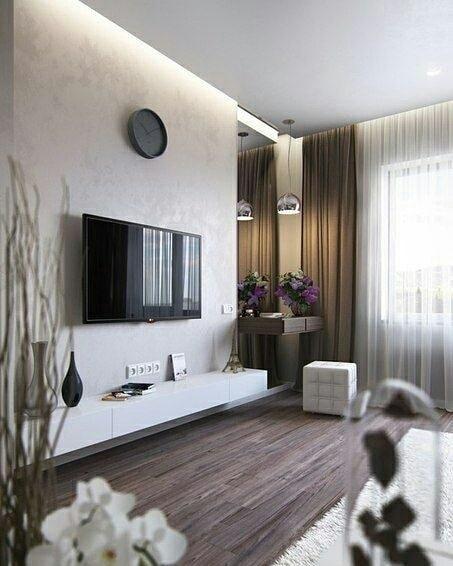 Оформление ТВ зоны в гостиной - несколько красивых вариантов