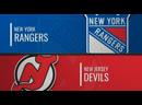 NHL Regular Season 2019 20 New York Rangers New Jersey Devils