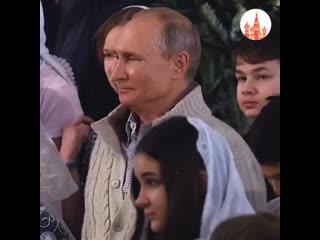 Владимир Путин встречает Рождество
