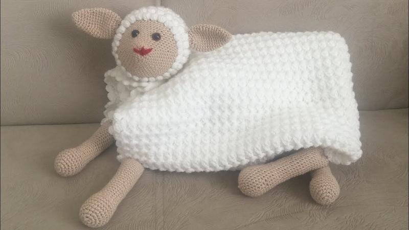 UYKU ARKADAŞI ( Kuzu battaniye , Amigurumi battaniye,Tığ işi kolay bebek battaniyesi ) PART 2