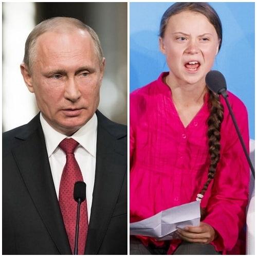 Владимир Путину выступил против Греты Тунберг!