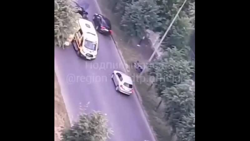 На Хади Такташа сбили мотоциклиста