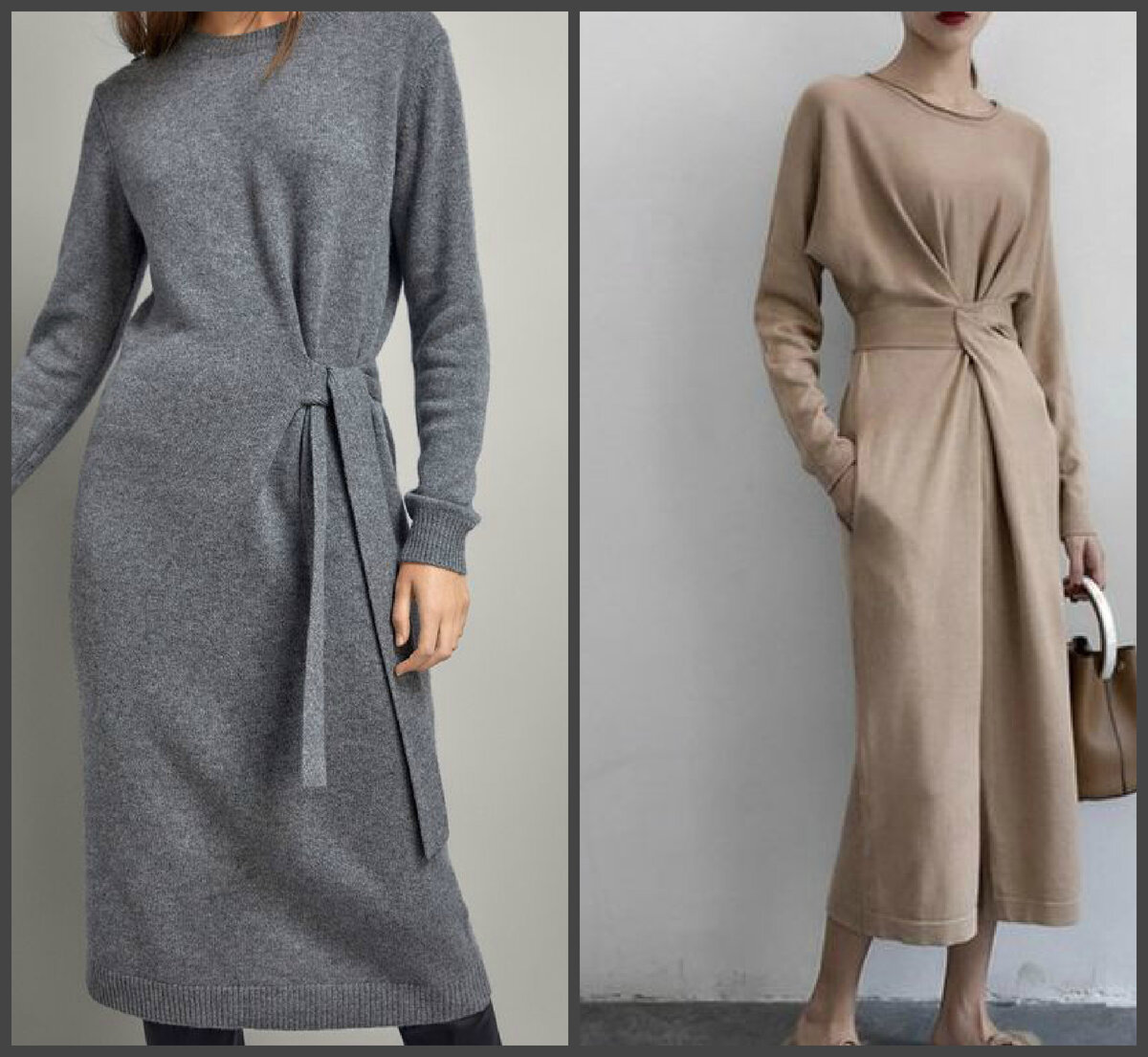 Зимние платья на каждый день.