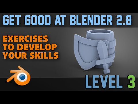 Beginner Exercises | Part 3 | Low Poly Weapons | Blender 2.8