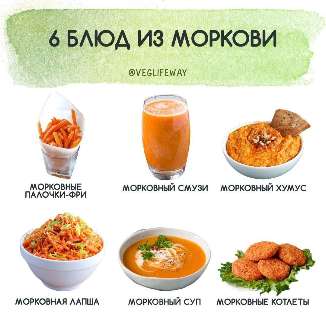 Подборка блюд из моркови