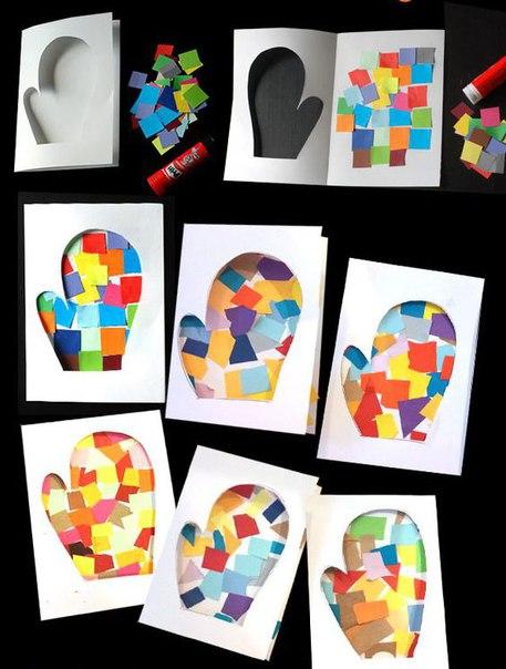 НОВОГОДНЯЯ ОТКРЫТКА СВОИМИ РУКАМИ Интересная идея открытки к Новому году своими руками. Сделать такую новогоднюю открытку сможет даже маленький ребенок при небольшой помощи