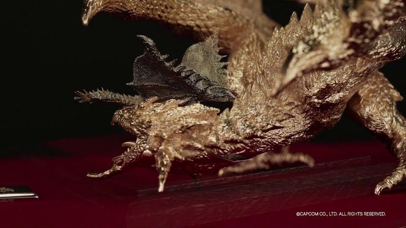 モンスターハンター 純プラチナ・純金製のフィギュア