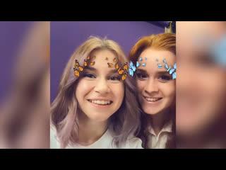 Маруся Климова и Настя Рыжик в новых летних масках с бабочками