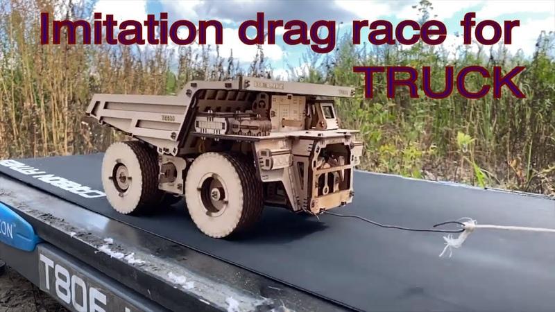 Wooden Dumper On Treadmill Amazing Wood Model Car Race