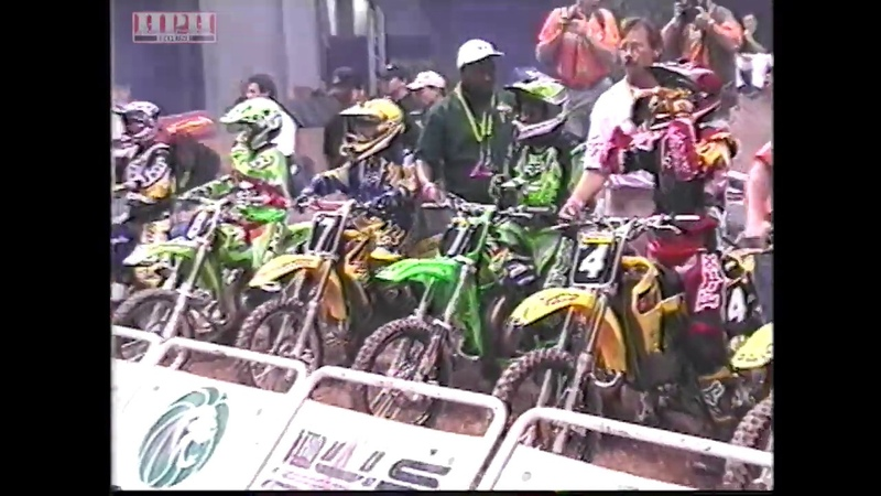 Bubba Stewart in 1999 at the US Open on 80's Kawasaki KX80 Winning Of Course Quick Clip