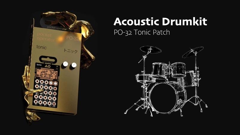 Acoustic Drumkit - PO-32 tonic patch
