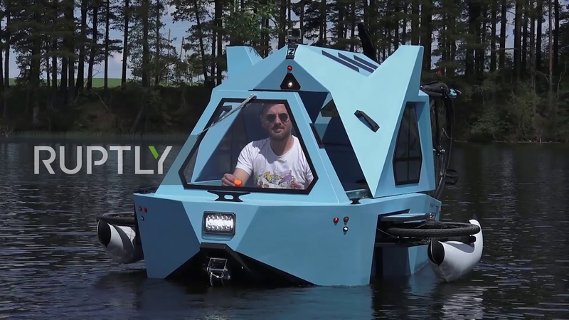 Whatever floats your HOME! Latvian architect designs mobile house boat trike