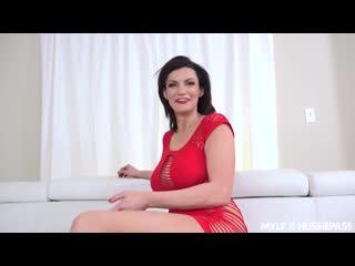 Трахает зрелую женщину в красном платье, busty milf mature mom sex bang fuck porn tit ass boob red wife anal cum (Hot&Horny)