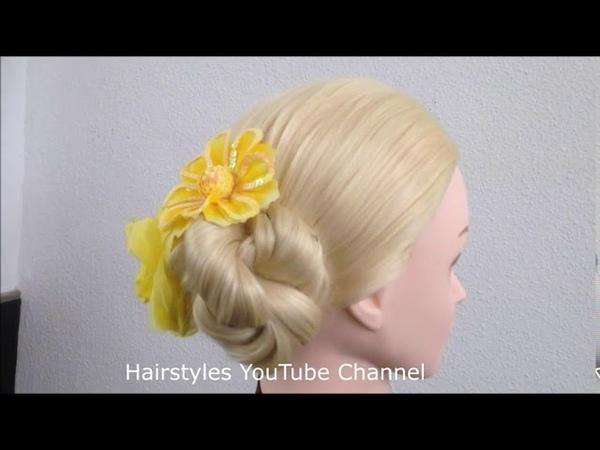 9 Easy Bridal Hairstyle For Long Hair Messy bun Hair style girl
