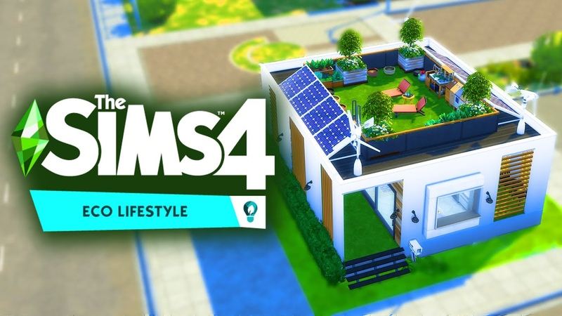 Building an ECO CUBE Home The Sims 4 Eco Lifestyle