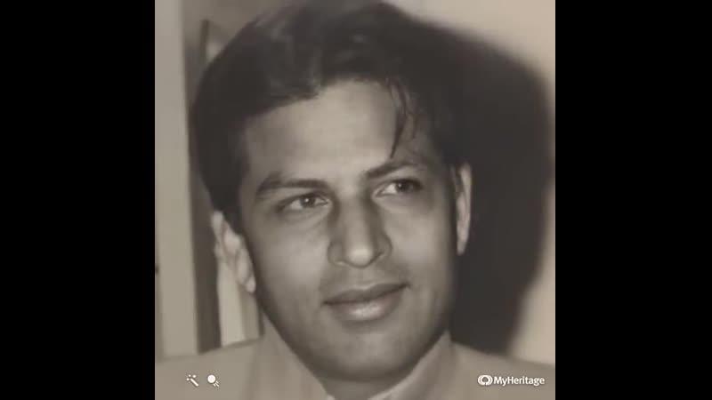 Taj Mohammed Khan обработка фото с помощью сервиса MyHeritage