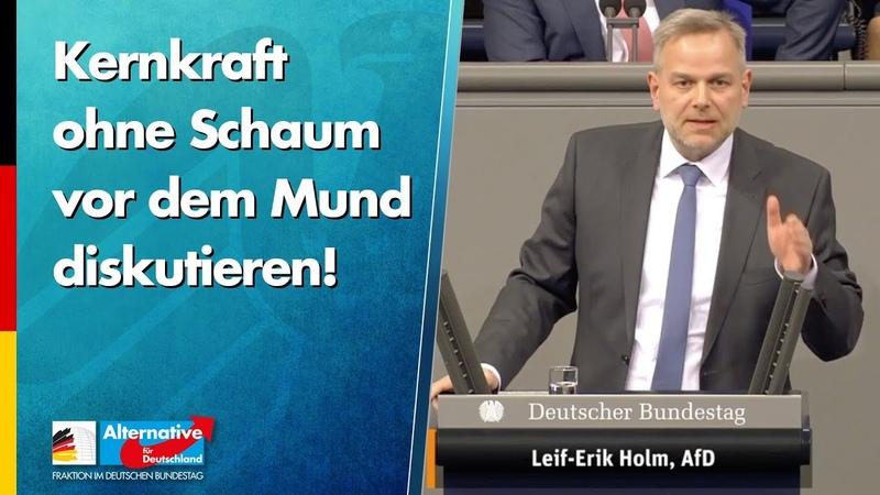 Kernkraft ohne Schaum vor dem Mund diskutieren Leif Erik Holm AfD Fraktion im Bundestag