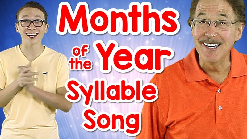 Months of the Year Syllable Song Counting Syllables Phonological Awareness Jack Hartmann