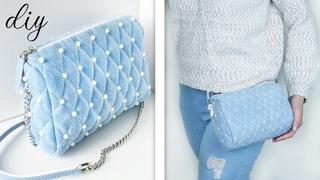DIY OLD JEANS RECYCLE ~ Cute Trendy Spring-Summer 2020 Bag Tutorial Step by Step ~ HANDMADE