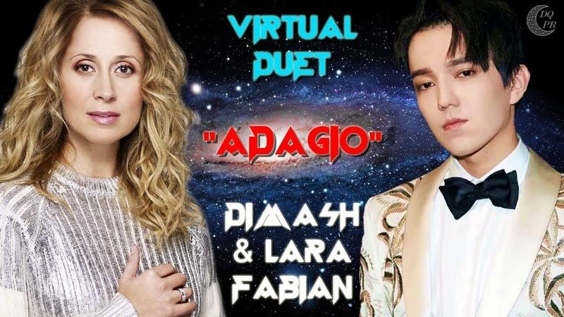 Dimash Lara Fabian Virtual Duet ADAGIO EN KZ RU ❤ Димаш и Лара Фабиан Виртаульный дуэт АДАЖИО