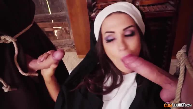 Cumlouder Susy Gala nun love fucked two man (porno, uniform, sex, cumshot, blowjob, couples, oral, tits,