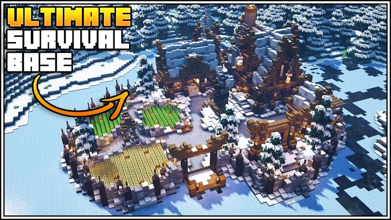 Minecraft Timelapse - The Ultimate Survival Base [Snowy Taiga Biome Base] - World Download