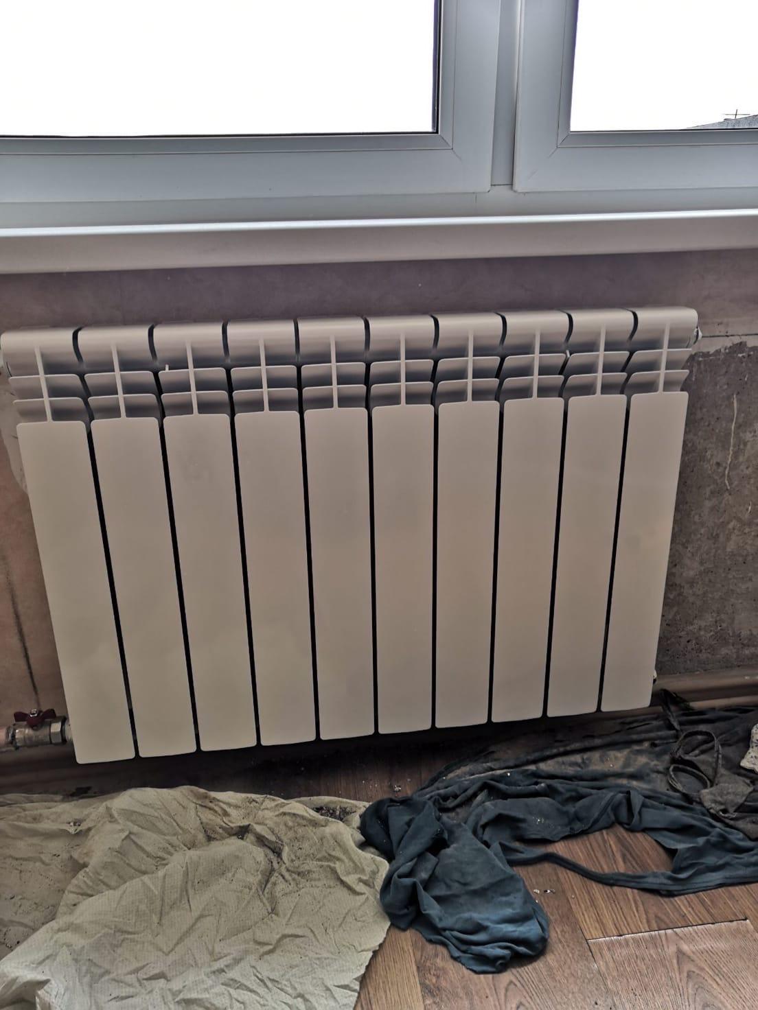 Проспект Строителей дом 46 кв208 установка радиатора