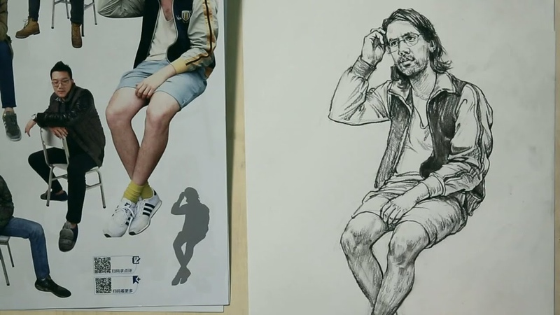 Life drawing poses of human