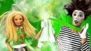 Кукла Барби ХИМИЧИТ! Школа куклы Барби! Видео про игры в игрушки, клоуна, фокусы и уборку в школе