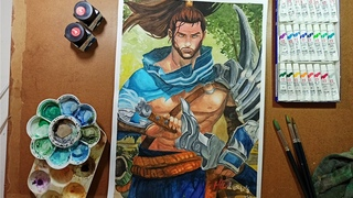 Speed Drawing - Yasuo from League of Legends