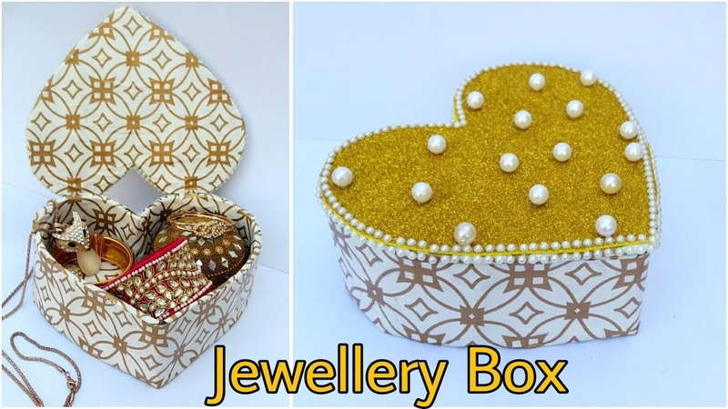 Jewellery Box from Cardboard Heart Shape Box The Blue Sea Art