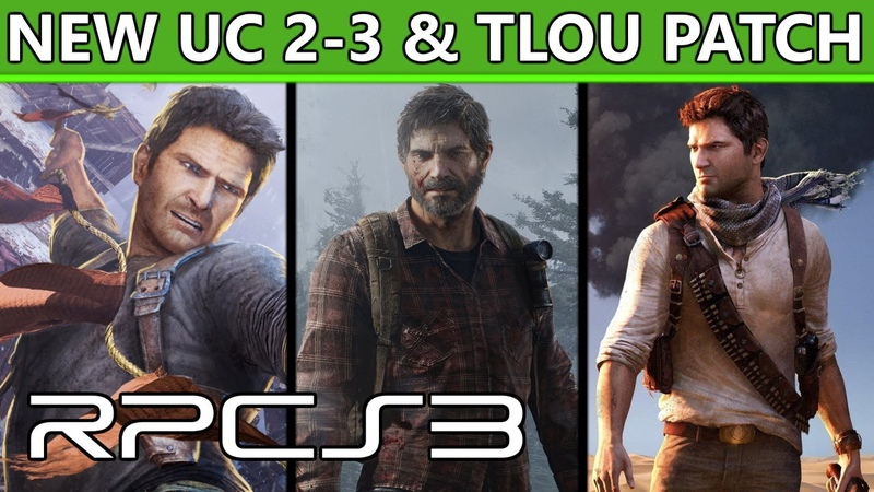 RPCS3 - TLoU Uncharted 2-3 Major performance graphical improvements with new patch!