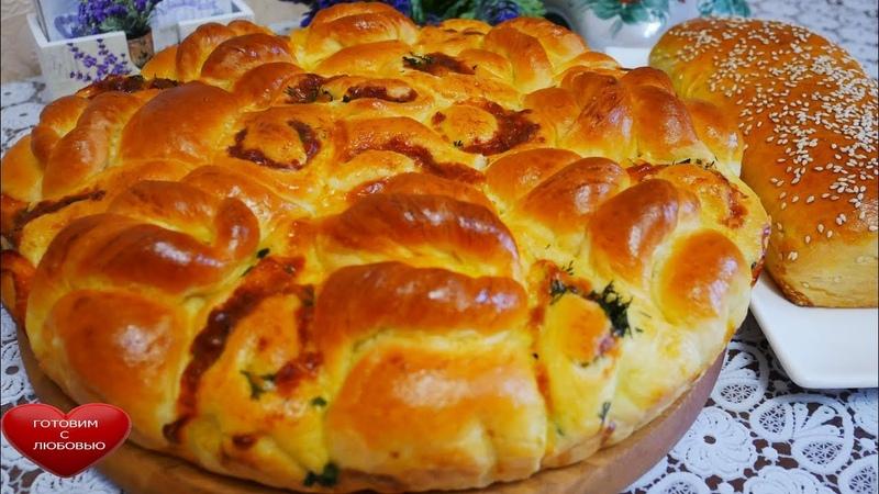 Нежный и вкусный пирог с капустой зеленью и сыром ЦВЕТОЧЕК капустный пирог cabbage pie