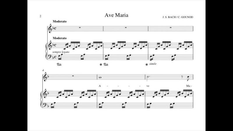 Ave Maria F major C Gounod Accompagnement Karaoke Аве Мария Бах Гуно Фа мажор