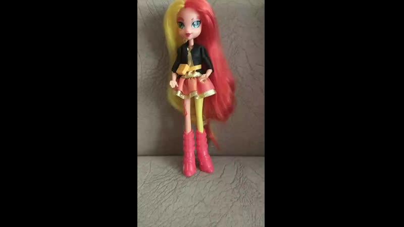 Обзор на куклу Equestria girls Sunset Shimmer из набора Борьба за корону