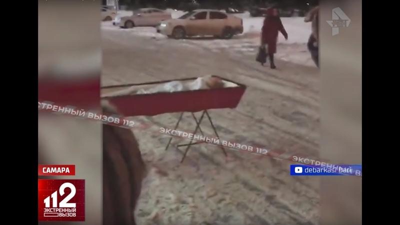 Вдова поставила гроб с телом умершего мужа к зданию Правительства Жесть