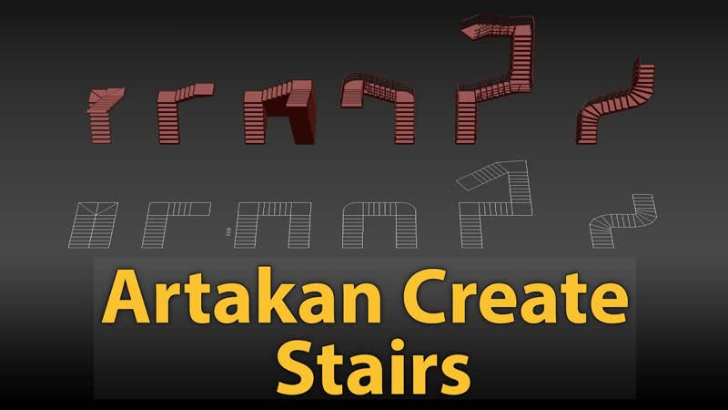 How to create quickly stairs in 3dsMax
