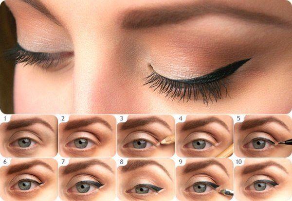 БОЛЬШОЙ ФОТО УРОК. ============================Маленький секрет для аккуратных стрелок в макияже глаз Пошаговый фото-урок. Стрелки на глазах классика макияжа! Укрощая взгляд всех кинодив и