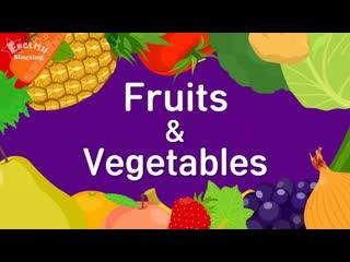 1 видео урок познавательная игра Vegetables and fruits педагог Нелюбин Ю.А.