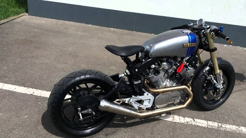 Yamaha XV1000 XV920 Cafe Racer Custom Exhaust Sound